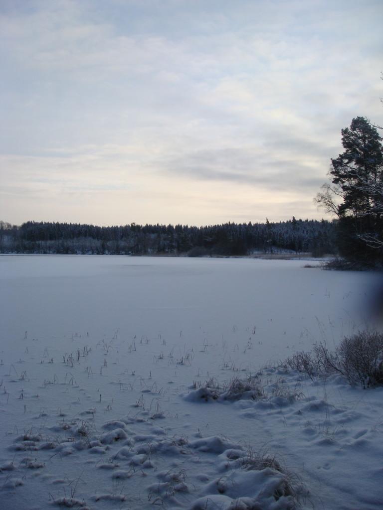 Hannabadssjön i vinterskrud
