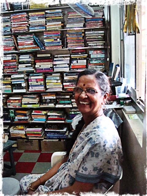 Sofia med sin bokhandel