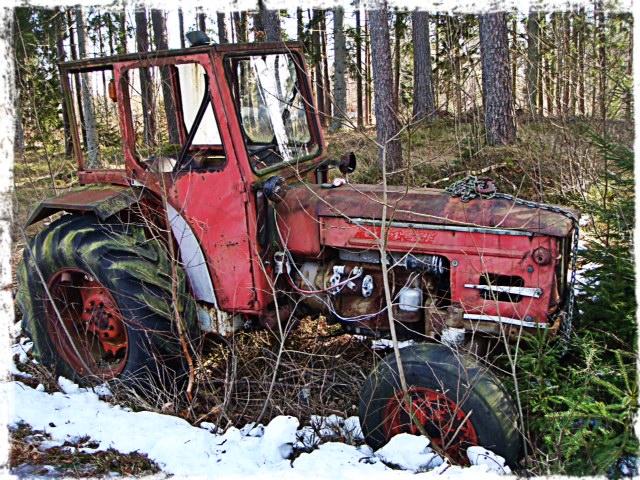 Traktor i naturen