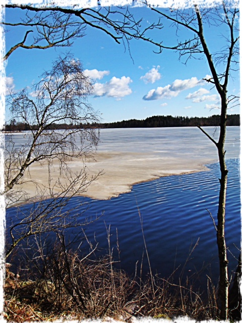 Hannabadssjön med is