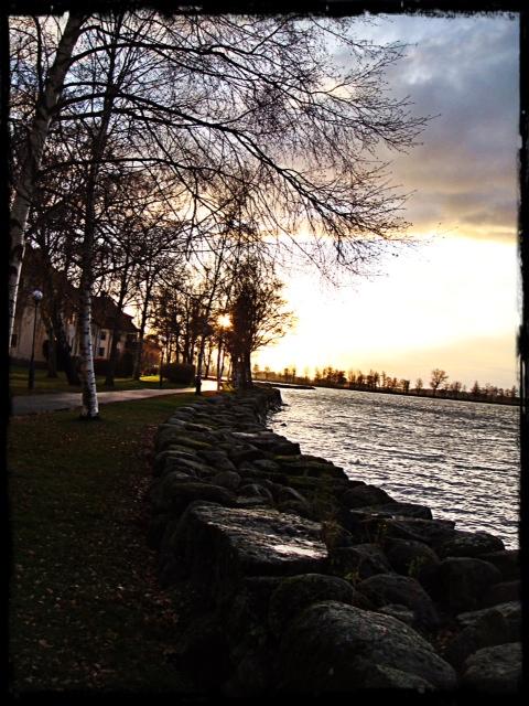 Solnedgång i Vadstena