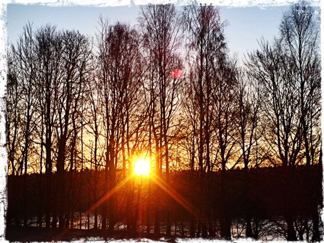 Soluppgång över sjön, 4