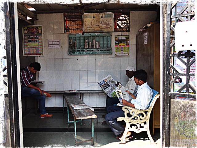 Bibiotek för utlåning av dagstidningar