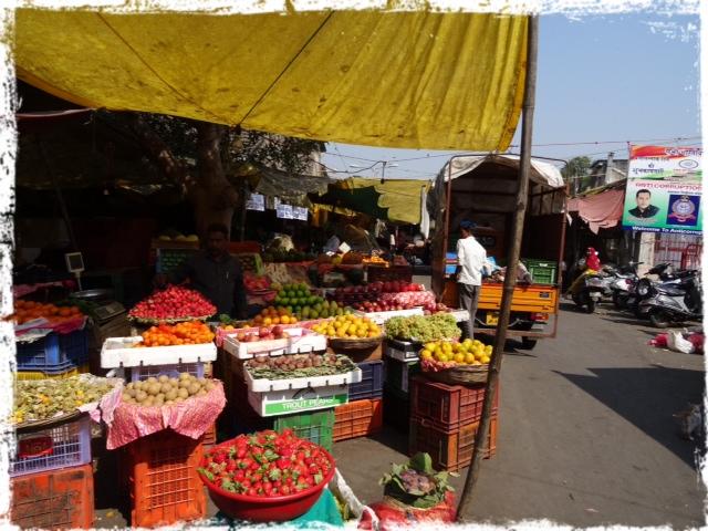 Fruktstånd, Shivaji market