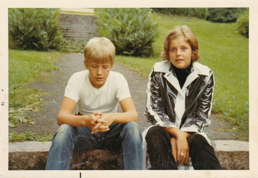 Min bror Anders och jag.
