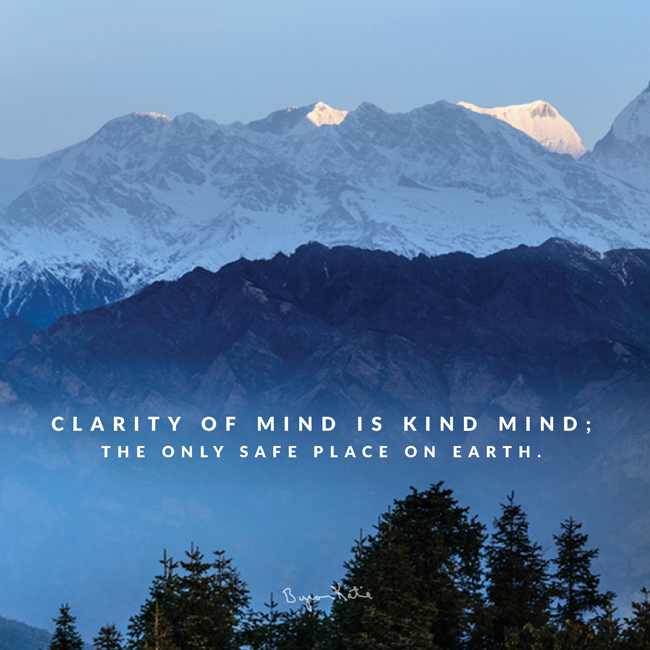 Clarity of mind is kind mind ...