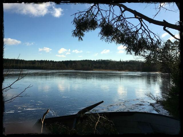 Hannabadssjön i vintersol 2 L