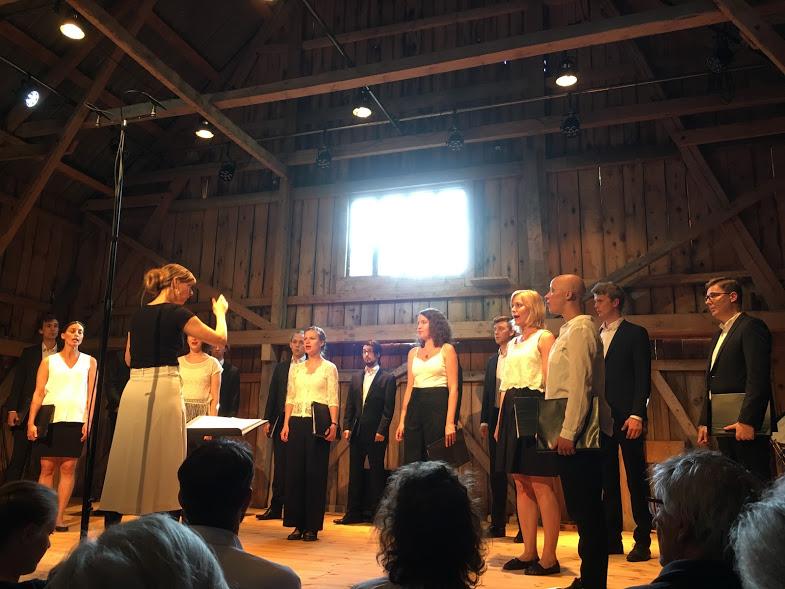 Malmö Live Vocal Ensemble. Tyvärr fattas några deltagare.